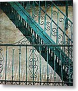 Step By Step - Into The Past Metal Print