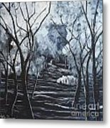 Step Into The Woods Metal Print