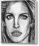 Stephanie Seymour In 1992 Metal Print