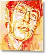 Stephen Hawking Portrait Metal Print