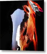 Stepping Into The Light Metal Print
