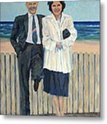 Stepping Out In Atlantic City New Jersey Metal Print
