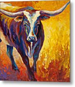 Stepping Out - Longhorn Metal Print
