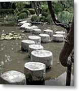 Stepping Stone Kyoto Japan Metal Print