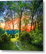 Stepping Stones To The Light Metal Print