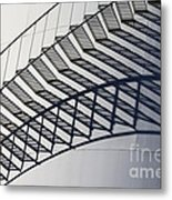 Steps And Shadow On Tank Metal Print