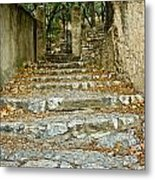 Steps In Cavaillon Metal Print