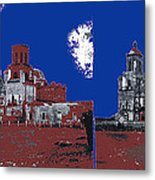 Stereo Card San Xavier Mission  Charles Fariot Photo C.1890 Metal Print