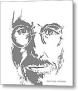 Steve Jobs Metal Print by Alexandra-Emily Kokova