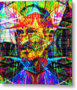 Steve Jobs Ghost In The Machine 20130618 Square Metal Print