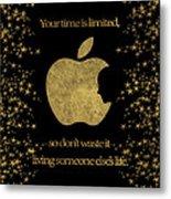 Steve Jobs Quote Original Digital Artwork Metal Print