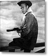 Steve Mcqueen As Cowboy Metal Print by Retro Images Archive