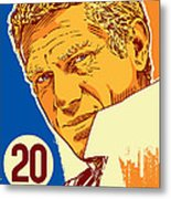 Steve Mcqueen Pop Art - 20 Metal Print