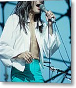 Steve Perry Of Journey At Day On The Green - July 1980 Metal Print