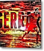 Steven Gerrard Liverpool Symbol Metal Print