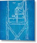 Stevens Roller Coaster Patent Art  3 1884 Blueprint Metal Print by Ian Monk