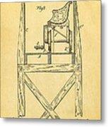 Stevens Roller Coaster Patent Art  3 1884 Metal Print by Ian Monk