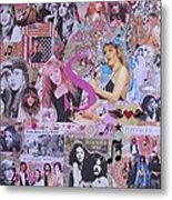 Stevie Nicks Art Collage Metal Print