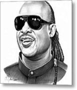 Stevie Wonder Metal Print