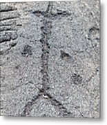 Stick Figure Petroglyph Metal Print