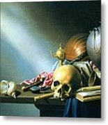Still Life An Allegory Of The Vanities Of Human Life Metal Print