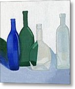 Still Life - Glass Bottles Metal Print by Bav Patel