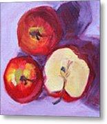Still Life Kitchen Apple Painting Metal Print