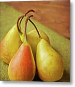 Still Life Of Pears Metal Print