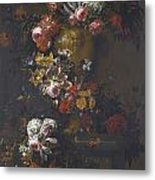 Still Life Of Roses Metal Print