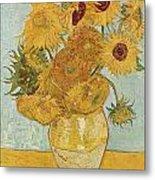 Still Life Sunflowers Metal Print