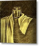 Still Life Vase And Fabric 1 Metal Print