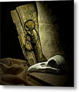 Still Life With A Bird Skull Metal Print by Jaroslaw Blaminsky
