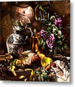 Still Life With A Cherry.  Metal Print