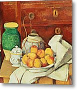 Still Life With A Chest Of Drawers Metal Print