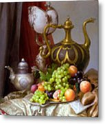 Still-life With A Glass Of Dutch Metal Print