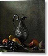 Still Life With A Jug And A Snake Metal Print
