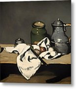 Still Life With A Kettle Metal Print