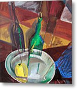 Still Life With An Apple Metal Print