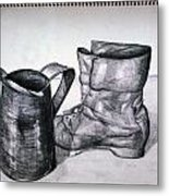 Still Life With Boot Metal Print