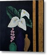 Still Life With Calla Lilies Metal Print