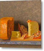 Still Life With Cheese Metal Print