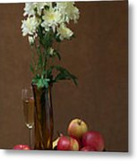 Still Life With Chrysanthemums Metal Print