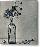 Still Life With Dry Flowers Metal Print