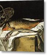 Still Life With Fish Metal Print by Frederic Bazille