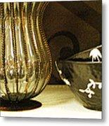 Still Life With Golden Vase Metal Print
