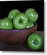 Still Life With Green Apples Metal Print