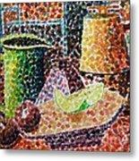 Still Life With Green Jug Painting Metal Print