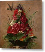 Still Life With Hummingbird Metal Print
