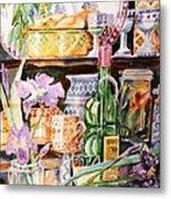 Still Life With Irises Metal Print