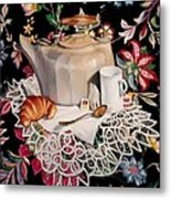 Still Life With Lace Metal Print
